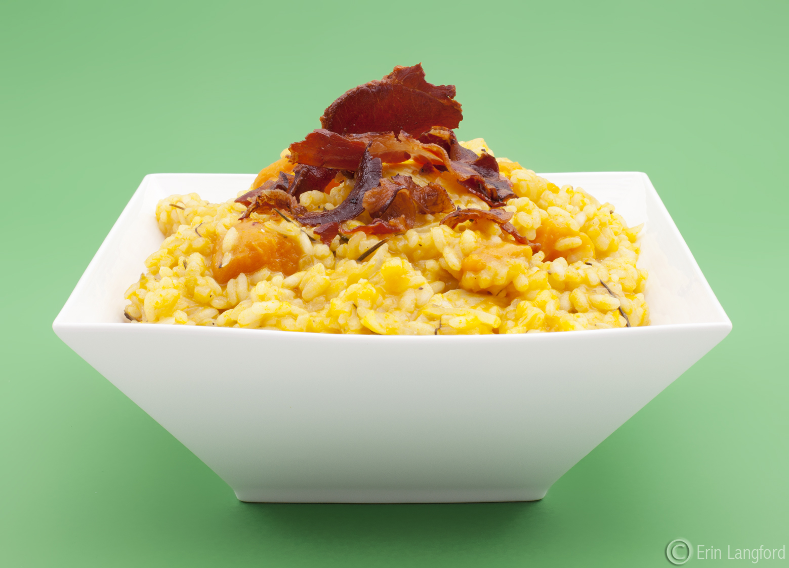 Roast Rosemary Pumpkin and Chicken Risotto with crispy Pancetta ...